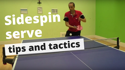 table tennis ball how to do pendulum serve