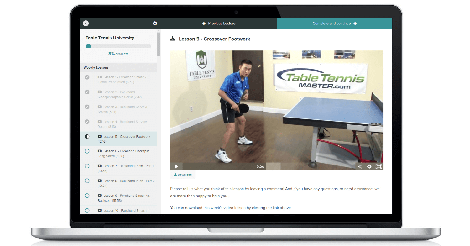 Table tennis University