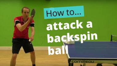 Forehand topspin vs backspin – basic technique