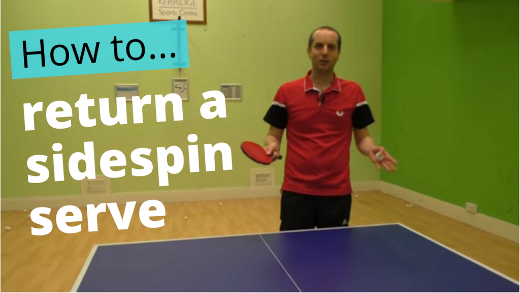 How to do a reverse sidespin serve