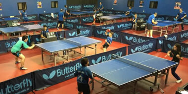 Table tennis training camps in UK and Europe