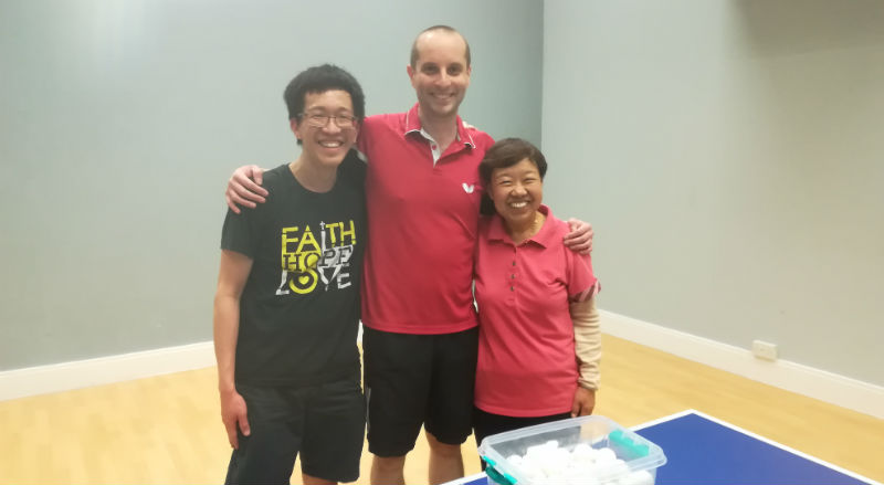 I'm now a full-time table tennis coach!