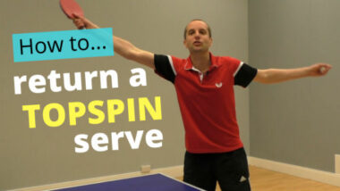How to return a topspin serve
