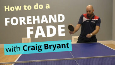How to do a forehand fade