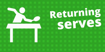 How to return a sidespin serve