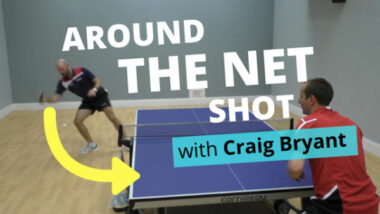 Amazing around the net shot