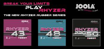 JOOLA Rhyzer 43 / 48 / Pro 50 Rubber Review