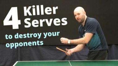 4 killer serves to destroy your opponents