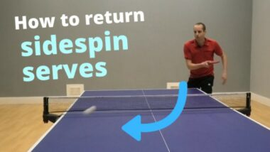 How to return different types of sidespin serve