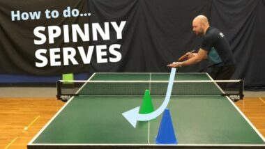 How to get more spin on your serves