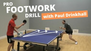 Paul Drinkhall's favourite footwork drill