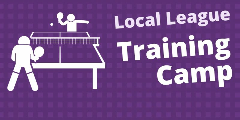 Table tennis training camp for local league players