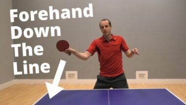 Forehand attack down the line… A simple shot to win cheap points