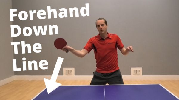 [Video] Forehand attack down the line…A simple shot to win cheap points