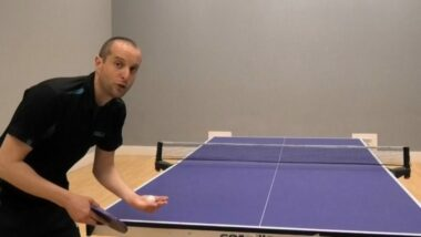 How to do a legal table tennis serve