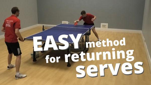 [Video] Easy method for returning serves (beginner / intermediate level)