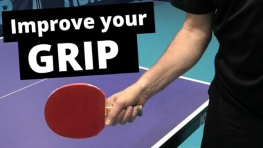 How to improve your table tennis grip