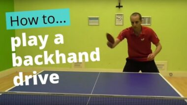 Backhand drive – basic technique