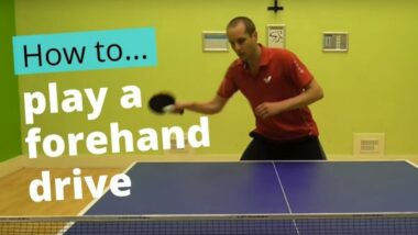 Forehand drive – basic technique
