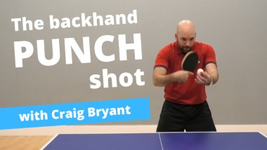 Hit winners with the backhand punch shot