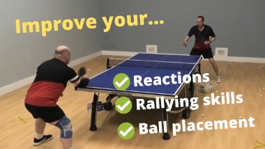 Simple drill to improve reactions, rallying skills and ball placement