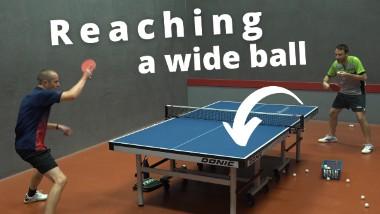 Reaching a wide ball